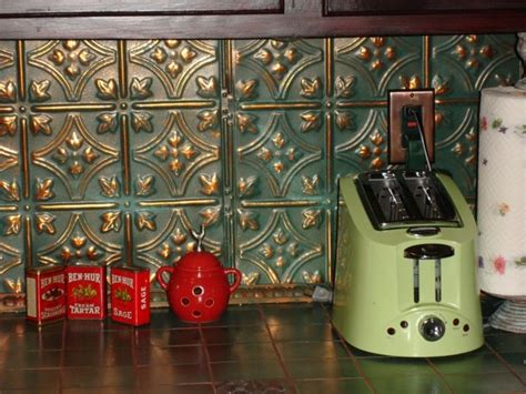 tin backsplash kitchen tin backsplash kitchen backsplashes rustic kitchen