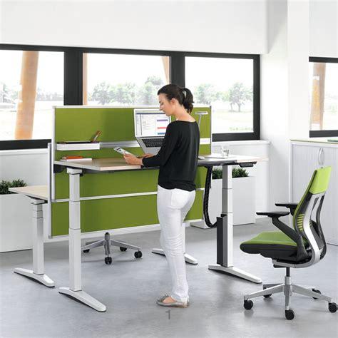 desk height steelcase ology height adjustable desks office desks