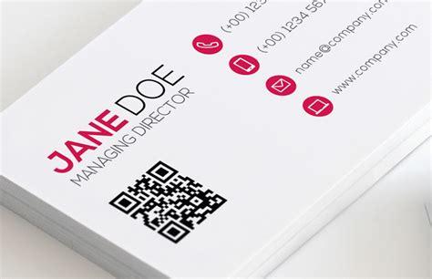 how to make a qr code business card qr code business card template vol 2 medialoot