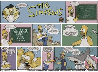how to read comics the simpsons comic strips
