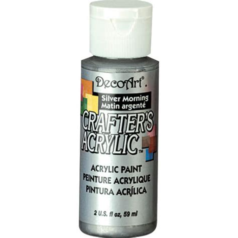 acrylic paint mixing silver silver morning decoart 174 crafter s acrylic paint basic
