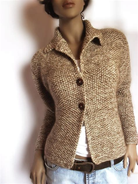 knit sweater jacket womens knit jacket merino wool sweater mohair by pilland