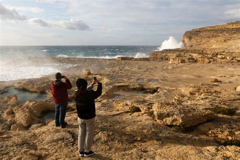 azure window collapse azure window malta rock arch collapses into sea after