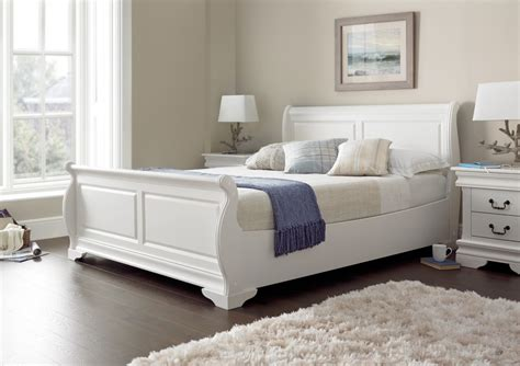 white size bed louie polar white new wooden sleigh beds wooden