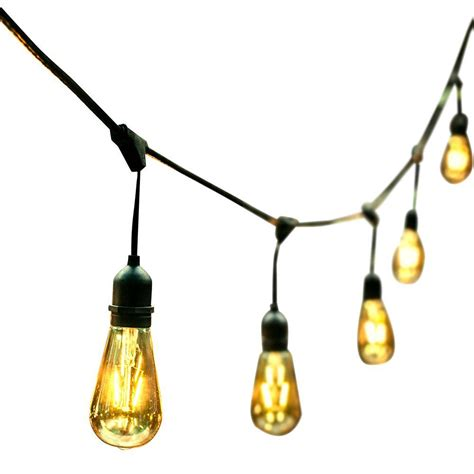 edison lights string ove decors 48 ft 24 oversized edison light bulbs black
