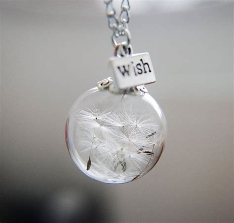 make a wish jewelry 25 best dandelion necklace ideas on