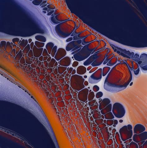 acrylic paint pour honeycomb poured fluid acrylics and ink