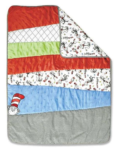 cat in the hat crib bedding set dr seuss cat in the hat 3 crib set blanket warehouse