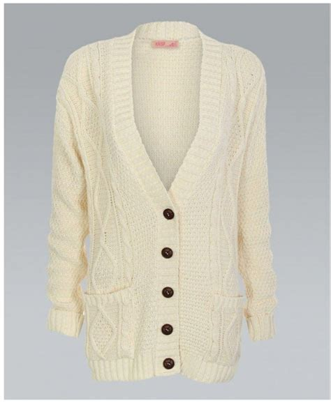 Misskrisp Chunky Cable Knit Button Cardigan