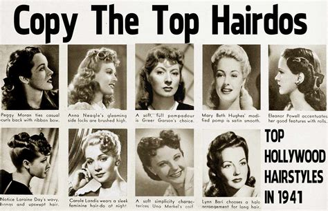 hairstyle facts from the 1940 s a guide to the history of vintage hairstyles the