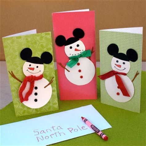 disney crafts for mickey mouse snowmen cards disney family