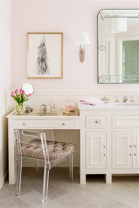 bathroom cabinets with makeup vanity family home with neutral interiors home bunch interior