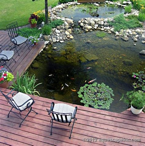 Der Garten Viewing by Backyard Deck Is Cantilevered Water Garden For Ideal