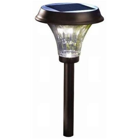 solar light home depot moonrays richmond style solar powered metal led rubbed