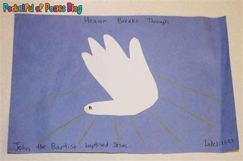 baptism crafts for to make sunday school crafts jesus baptism handprint dove