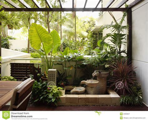 garden home interiors interior design garden stock image image of wall