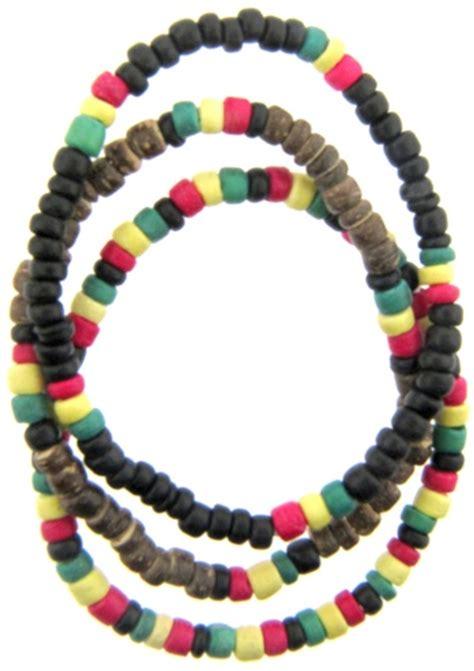 rasta bead bracelet 12x rasta bead bracelets stretchy coconut assorted