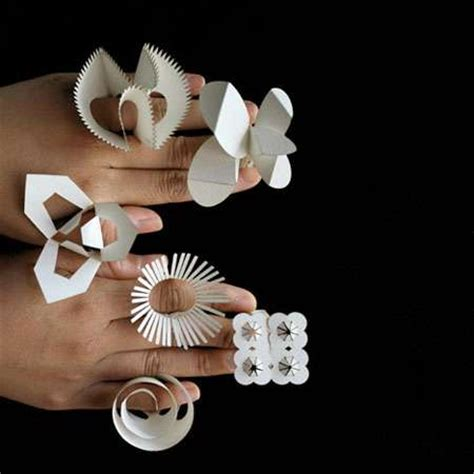 how to make jewelry out of paper pop out paper jewelry diy folding floral rings for every