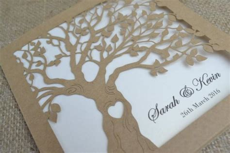 laser tree laser cut invitation rustic wedding invitation laser cut