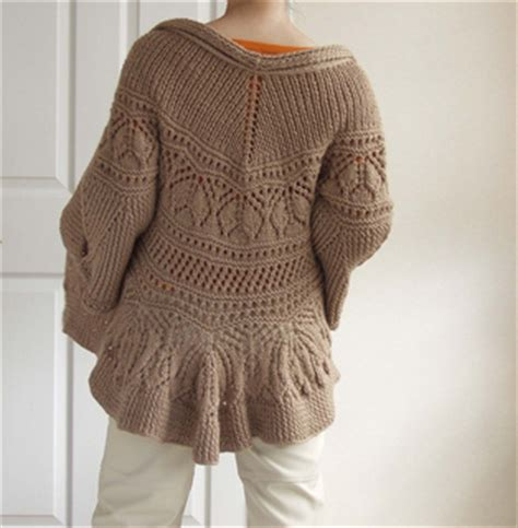 peplum knitting patterns ravelry 33 peplum cardigan pattern by nanette lepore