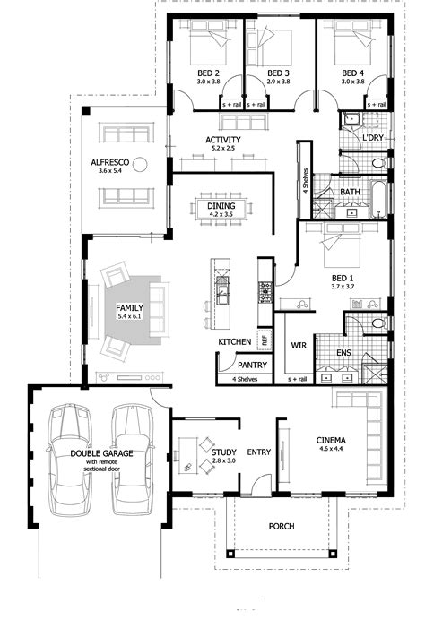 house plans with 4 bedrooms 4 bedroom house plans home designs celebration homes