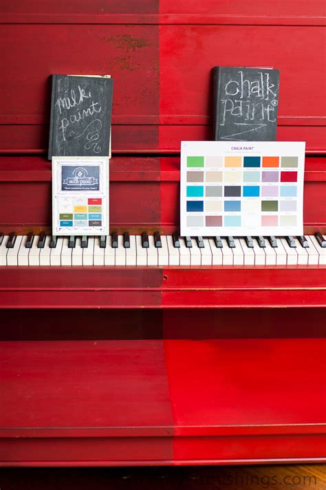 chalk paint vs milk paint the piano painted in milk paint and chalk paint