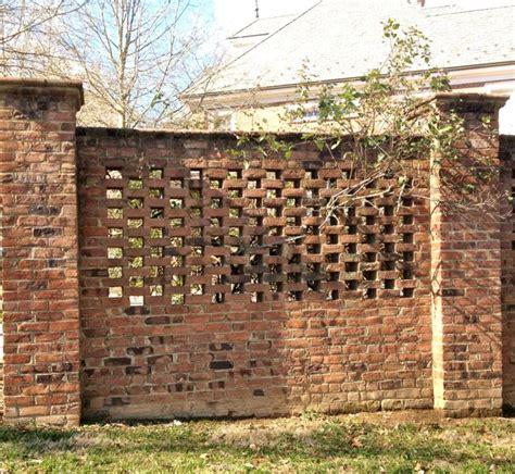brick walls for gardens best 25 brick fence ideas on yard gates