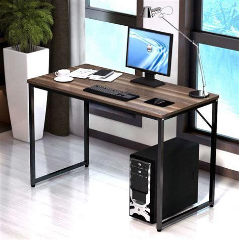 metal computer desk simple wood metal computer desk