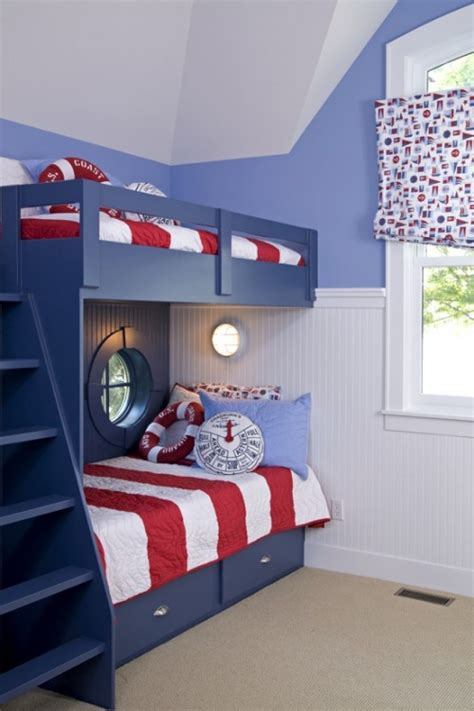 bunk beds bedroom boys bedroom gorgeous blue wooden frame with stripes