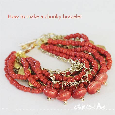 how to make chunky jewelry to give home made toned bracelet