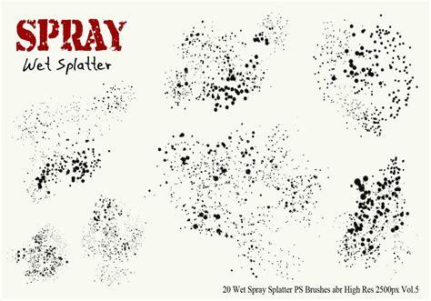 spray paint brush illustrator 20 spray splatter ps brushes vol 5 free photoshop