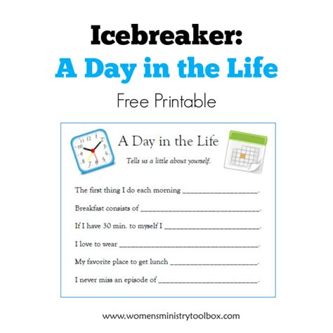 free printable for groups icebreaker a day in the free printable s