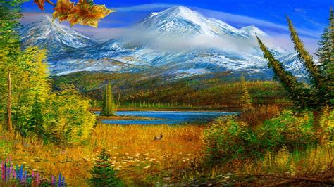 bob ross painting wallpaper 1920x1080 nature painting 369122 walldevil
