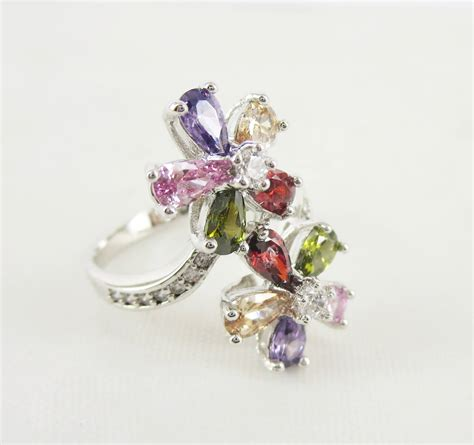 glass stones for jewelry silver brass jewelry rings with glass stones setting