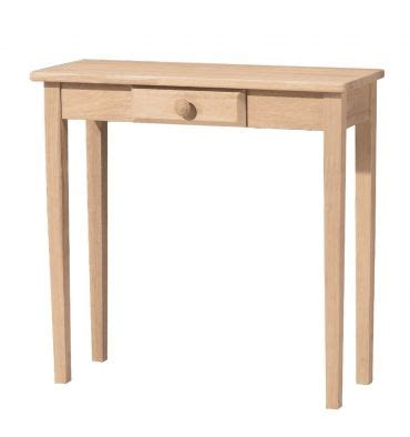 30 inch shaker entry table with drawer bare wood