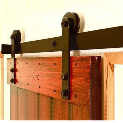 single barn door 5 16ft winsoon rustic single sliding barn door hardware