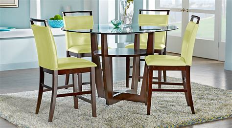 dining room counter height sets ciara espresso 5 pc counter height dining set dining