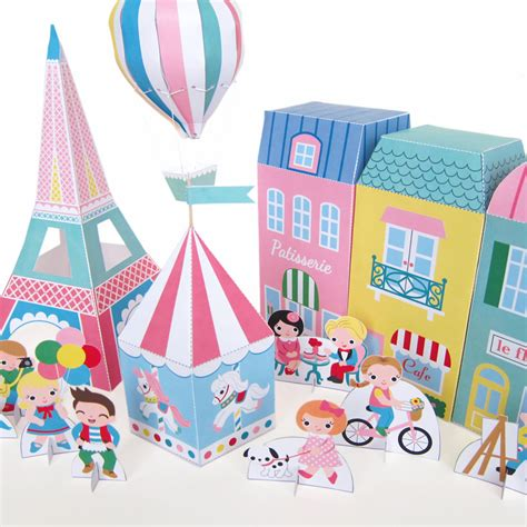 free craft papers to neighborhood paper playset printable paper craft