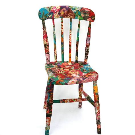 how to decoupage fabric on wood fabric decoupage wooden chair the craft