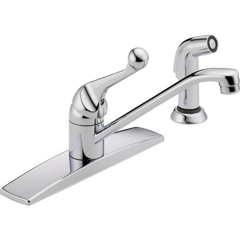 delta kitchen faucet single handle delta classic single handle standard kitchen faucet with