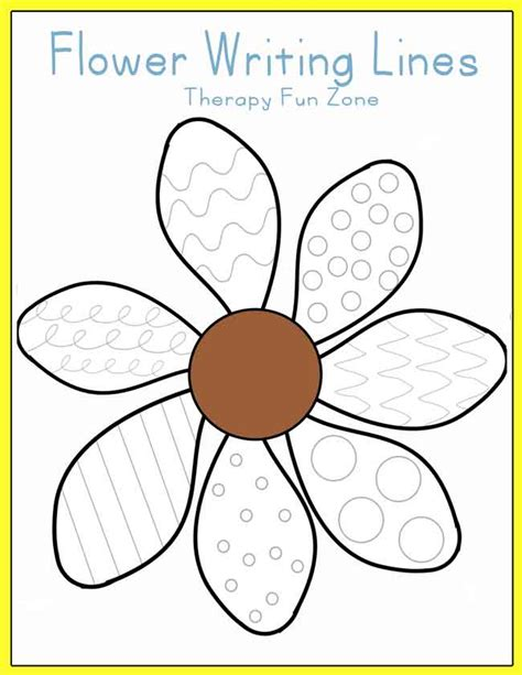 flower writing lines therapy fun zone