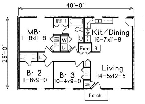 floor plan 1000 square foot house 1000 square 3 bedrooms 2 batrooms 2 parking space