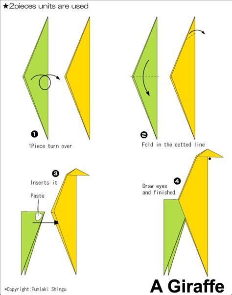 how to make origami giraffe origami a giraffe easy origami