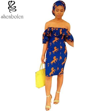 costume design 2017 new fashion design 2017 batik word shoulder dress