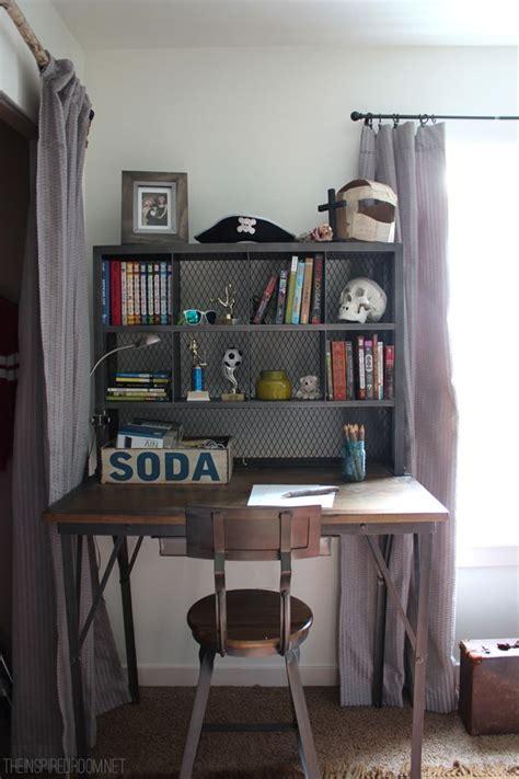 desks for room boy s small bedroom an update industrial desk