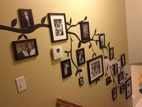 Oversized Wall Stickers great way to display old photos on a family tree wall