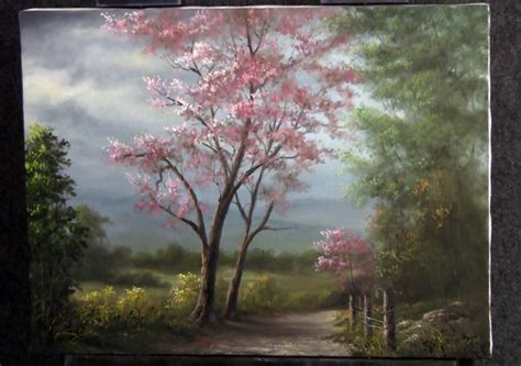 acrylic painting kevin paint with kevin hill scenic tree road doovi