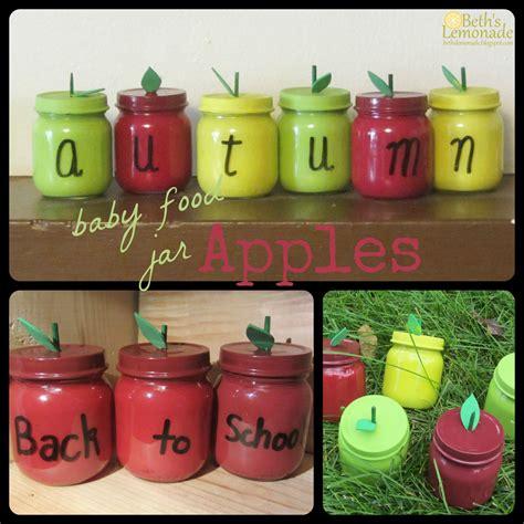 baby food jar crafts for beth s lemonade baby food jar week apple jars and the
