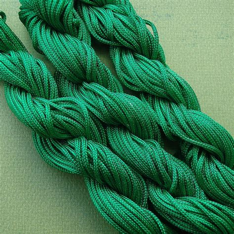 beading cord green braided beading cord knot cord 1mm