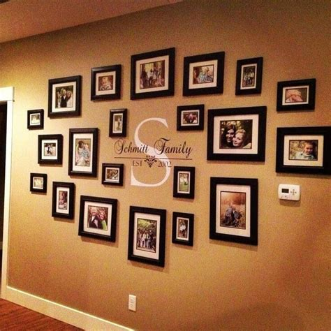 20 ideas of family wall picture frames wall ideas